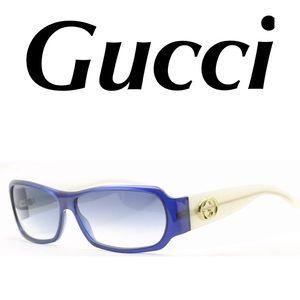 Gucci Sunglasses Blue White Women's With Case